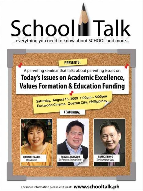 school talk poster